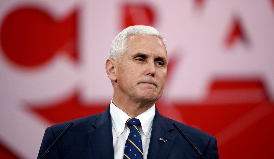 "Indiana Gov. Mike Pence ""is the most conservative vice presidential nominee"" in 50 years, according to the American Conservative Union. (Associated Press)"
