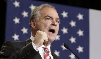 Sen. Tim Kaine. (AP Photo/Chuck Burton, File)