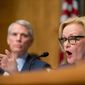 A report by Sens. Claire McCaskill (right) and Rob Portman suggested that Medicare's checks on opioid abuse haven't kept up with the ballooning use, meaning more people may be bilking the system and fueling the epidemic. (Associated Press)