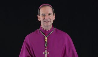 This photo provided by the Diocese of Raleigh, N.C., shows Michael Burbidge, who will lead the Catholic Diocese of Arlington, Va., the church announced Tuesday, Oct. 4, 2016. (Paul Tomas/Diocese of Raleigh, N.C. via AP) ** FILE **