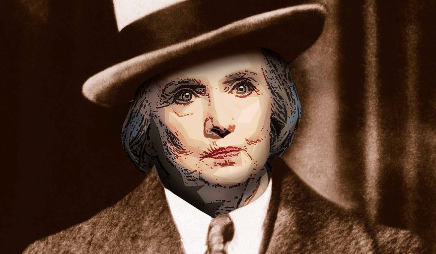 Hillary Gangster Illustration by Greg Groesch/The Washington Times