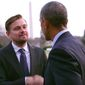 "Hollywood actor and activist Leonardo DiCaprio appears with President Obama in the trailer for his upcoming climate change documentary ""Before the Flood."" (YouTube, National Geographic)"