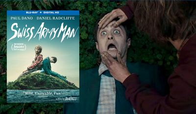 """Paul Dano and Daniel Radcliffe star in Lionsgate Home Entertainment's """"Swiss Army Man,"""" now available on Blu-ray."""