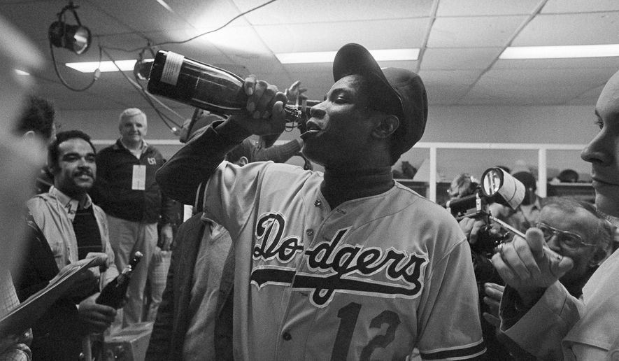 Nationals manager Dusty Baker had good times as a player with the Los Angeles Dodgers. / AP, file