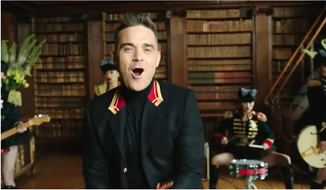 """Screen capture from English pop singer's music video """"Party Like a Russian."""""""