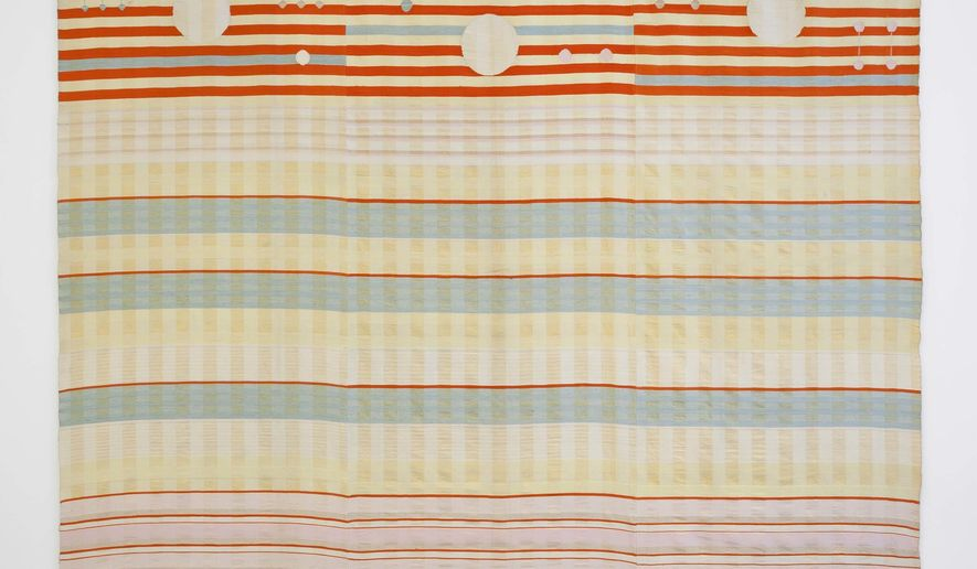 """This undated photo provided by MoMA shows """"Woven Wall Hanging"""" by Benita Koch-Otte, 1923. The piece is part of the exhibit at the museum titled """"How Should We Live? Propositions for the Modern Interior.""""  (John Wronn/MoMA via AP)"""
