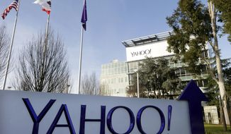 This Jan. 14, 2015, file photo shows Yahoo's headquarters in Sunnyvale, Calif. According to a Reuters report published Tuesday, Oct. 4, 2016, Yahoo reportedly scanned hundreds of millions of email accounts at the behest of U.S. intelligence or law enforcement. (AP Photo/Marcio Jose Sanchez, File)