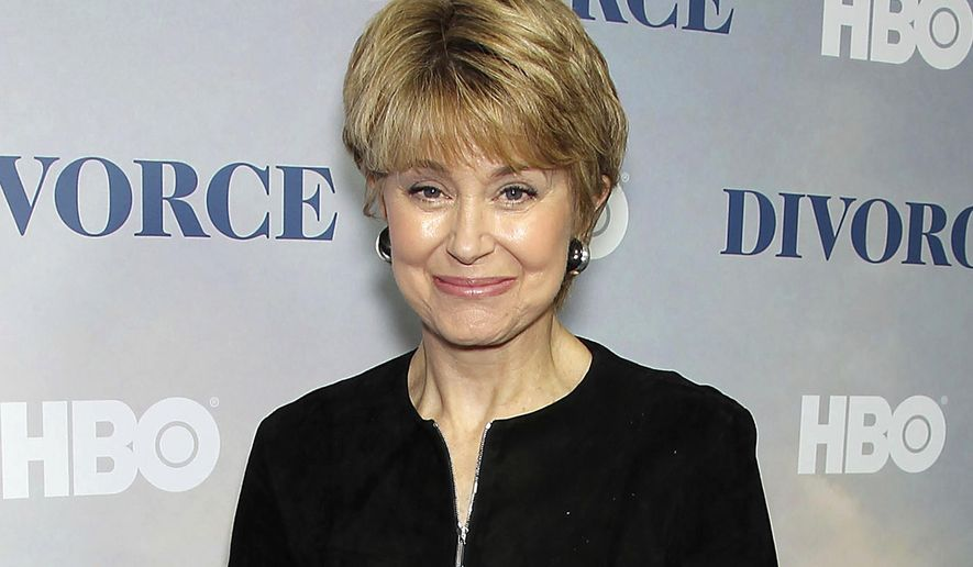 "FILE - This Tuesday, Oct. 4, 2016, file image released by Starpix shows Jane Pauley at the premiere of the HBO series ""Divorce,"" at the SVA Theatre in New York.  Pauley will take over as host of ""CBS News Sunday Morning"" this weekend. (Marion Curtis/StarPix via AP, File)"