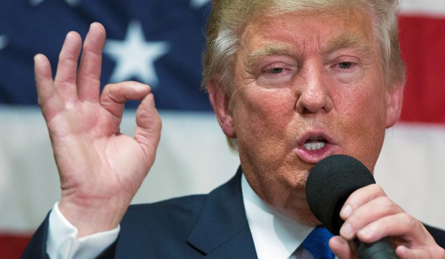 Republican presidential candidate Donald Trump did not believe a invite-only town hall Thursday in New Hampshire was practice for Sunday's debate. (Associated Press)