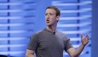 Facebook CEO Mark Zuckerberg. (AP Photo/Eric Risberg) ** FILE **