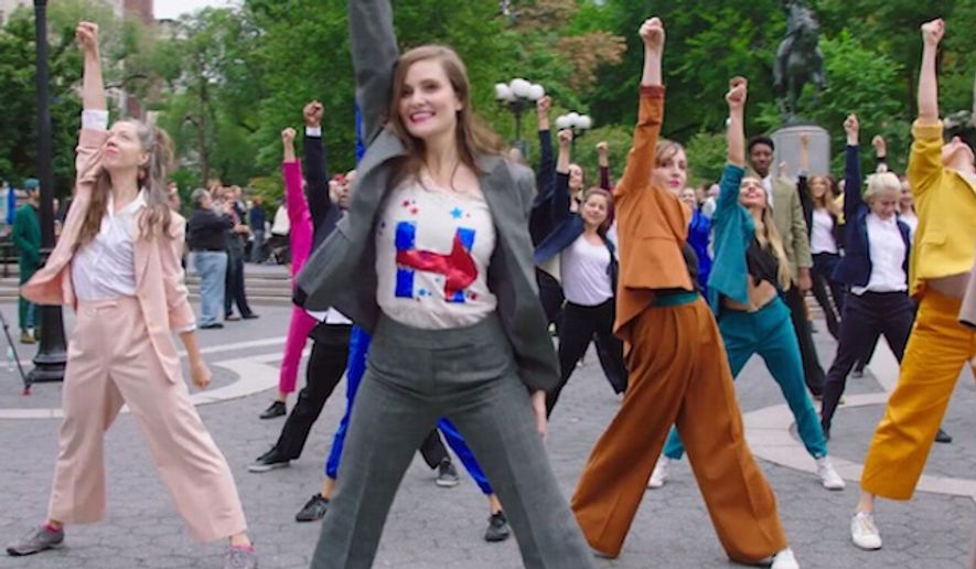 Activists with the group Humanity for Hillary put together a pantsuit flashmob to dance in support of her campaign. The Hillary Clinton supporters showed off their moves in New York's Union Square. (Facebook, Humanity for Hillary)
