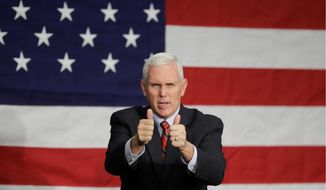 Gov. Mike Pence has been urged in an open letter to publicly endorse Libertarian Party candidate Gary Johnson. (Associated Press)