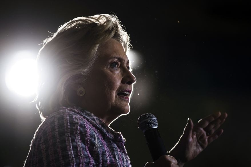 Democratic presidential candidate Hillary Clinton speaks during a campaign stop in Coral Springs, Fla., Friday, Sept. 30, 2016. (AP Photo/Matt Rourke)