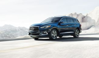 If six-to-seven passenger hauling is your ordinary day, then the 2016 Infiniti QX60 is going to be a natural choice in the evolution of shopping for your next vehicle.  (Courtesy of Infiniti.)