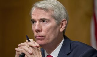 """While I continue to respect those who still support Donald Trump, I can no longer support him,"" said Sen. Rob Portman, an Ohio Republican who is up for re-election. ""I continue to believe our country cannot afford a Hillary Clinton presidency. I will be voting for Mike Pence for president."" (Associated Press)"