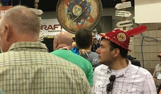 Patrons at the Great American Beer Festival.  (Eric Althoff)