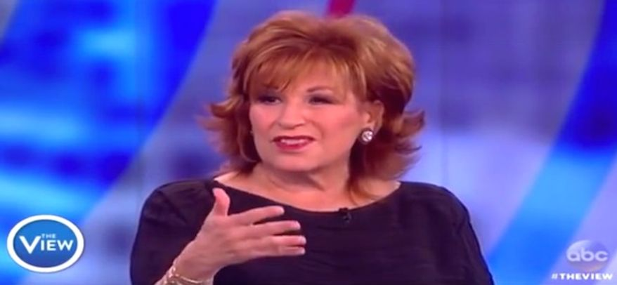 """The View"" co-host Joy Behar apologized to viewers on Tuesday, Oct. 11, 2016, for mocking women who accused Bill Clinton of rape and sexually harassment. (ABC screenshot)"