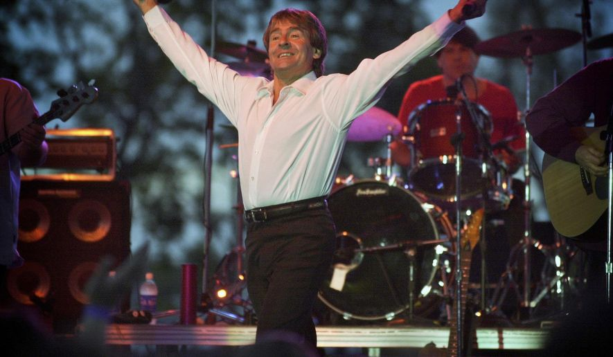FILE - In this May 27, 2001, file photo, Davy Jones and the Monkees jam at Applebees parks first concert in Lexington, Ky. A fire in central Pennsylvania destroyed the former Beaver Lutheran Church intended to be a museum honoring the late singer Jones. WHTM-TV reported crews responded to the blaze in Beavertown, Pa., early Tuesday, Oct. 11, 2016. (Mark Cornelison/Lexington Herald-Leader via AP, File)