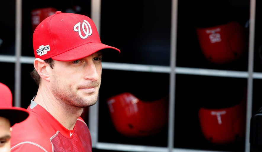 "Washington Nationals pitcher Max Scherzer calls Thursday's Game 5 ""the biggest start of my career."" (Associated Press)"