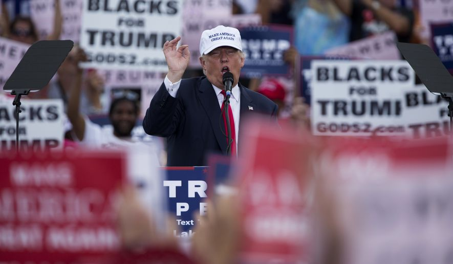 Donald Trump speaks during a campaign rally Wednesday in Lakeland, Florida. (Associated Press)
