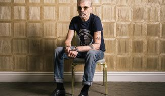 "In this Oct. 3, 2016 photo, actor Billy Bob Thornton poses for a portrait while promoting his upcoming Amazon series ""Goliath"" at The London hotel in Los Angeles. (Photo by Casey Curry/Invision/AP)"