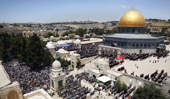 UNESCO, the U.N. body that designates cultural treasures, ignored Israeli ties to the Temple Mount in favor of Palestinians, who refer to it as the Al-Aqsa Mwosque. (Associated Press)