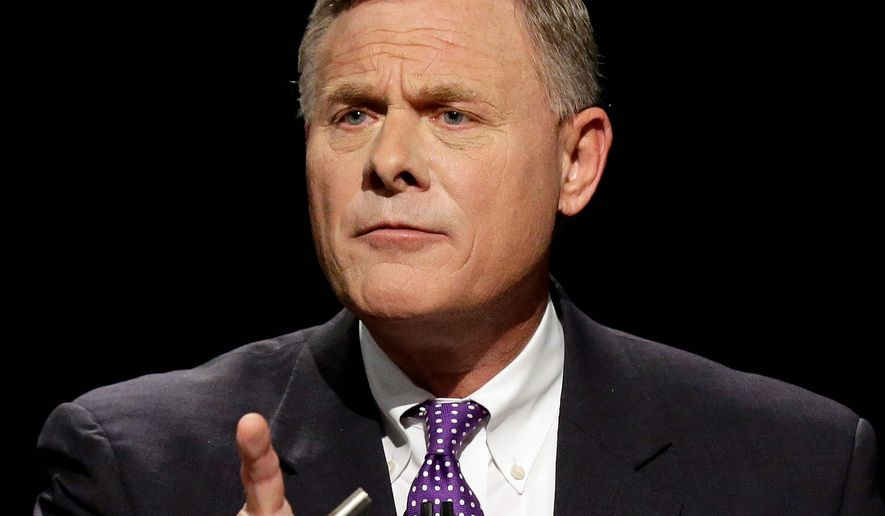 Sen. Richard Burr, North Carolina Republican, is locked in a tight re-election battle with Democrat Deborah K. Ross, a lawyer. (Associated Press)