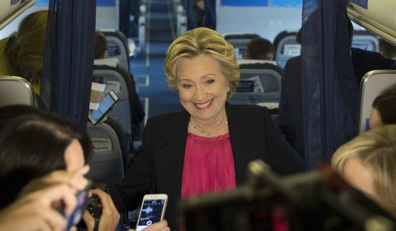 Strategy for securing favorable coverage was a popular topic of internal Clinton campaign discussions, to judge from the WikiLeaks material. (Associated Press)