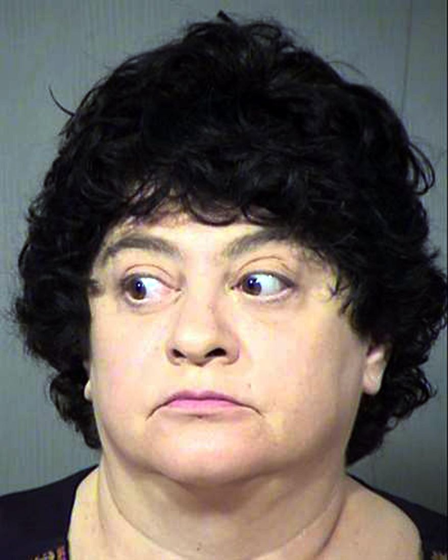This undated photo provided by the Maricopa County, Ariz., Sheriff's Office shows Michelle Marie Bastian. Bastian, a bookkeeper in Arizona, was arrested Wednesday, Oct. 12, 2016 on suspicion that she mailed bomb-making instructions and promotional materials from terrorist groups to a state prison. Investigators say she sent the materials in a plot to plot to kill a warden at the prison where her husband is serving a life sentence. (Maricopa County Sheriff's Office via AP)
