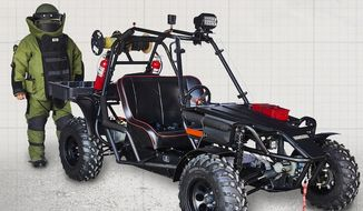 A new all-terrain vehicle has been developed specifically for Explosive Ordnance (EOD) technicians, HAZMAT and SWAT teams. (TORQ Defense Systems)