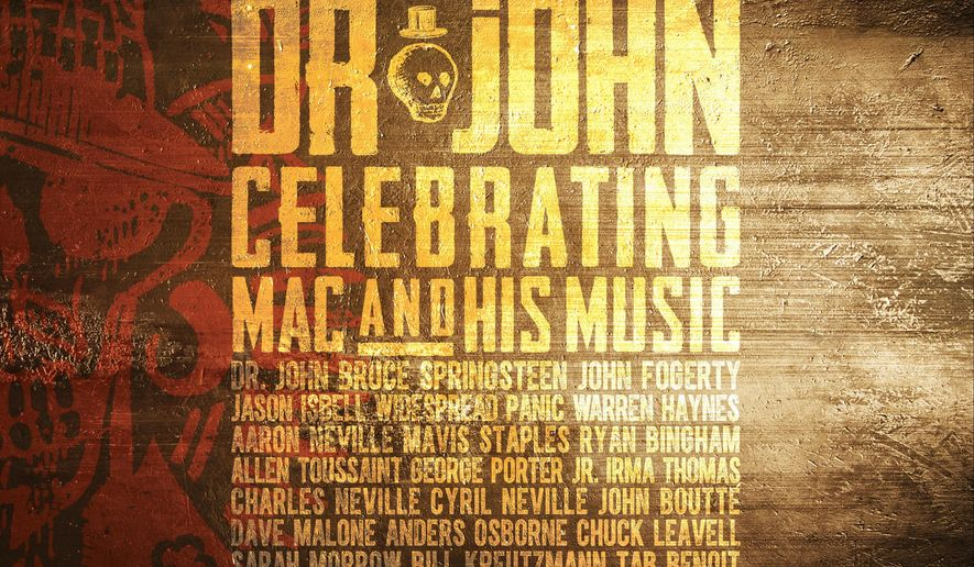 "This cover image released by Concord Records shows, ""The Musical Mojo Of Dr. John: Celebrating Mac And His Music,"" by Dr. John. (Concord Records via AP)"