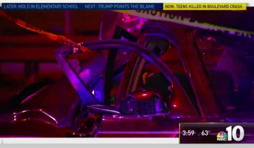 Screen capture from an NBC Philadelphia story about a fatal car crash after a man ran a red light en route to the hospital to visit his father. [http://www.nbcphiladelphia.com/news/local/Deadly-Roosevelt-Boulevard-Crash-397063781.html]