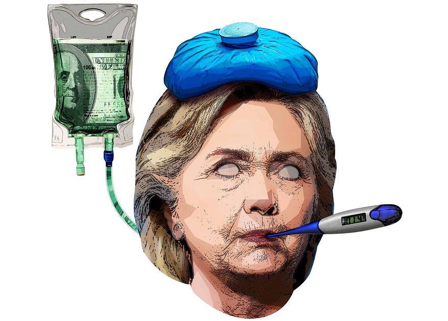 Bad Health Hillary Illustration by Greg Groesch/The Washington Times
