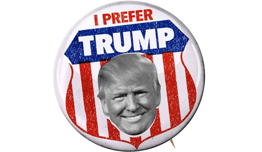 I Prefer Trump Campaign Button Illustration by Greg Groesch/The Washington Times