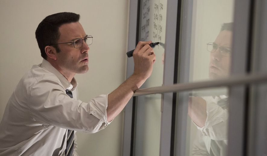 "In this image released by Warner Bros. Pictures, Ben Affleck appears in a scene from ""The Accountant."" (Chuck Zlotnick/Warner Bros. Pictures via AP)"