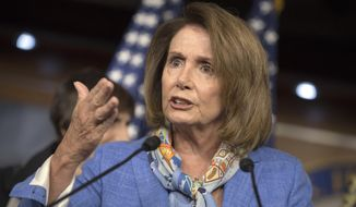 In this Aug. 11, 2016, file photo, House Minority Leader Nancy Pelosi, D-Calif., speaks at a news conference on Capitol Hill in Washington. (AP Photo/J. Scott Applewhite)