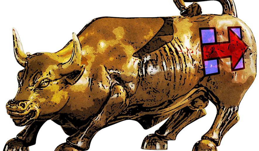 Wall Street Backing Hillary Illustration by Greg Groesch/The Washington Times