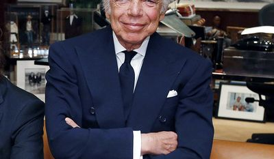 Fashion designer Ralph Lauren; born Ralph Lifshitz; October 1, 1939 (AP Photo/Jason DeCrow)
