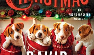 "This book cover image released by Minotaur shows ""The Twelve Dogs of Christmas,"" by David Rosenfelt. (Minotaur via AP)"