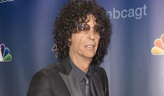 "In this Sept. 16, 2015 file photo, Howard Stern attends the ""America's Got Talent"" finale post-show red carpet in New York. Stern doesn't plan to air old interviews with Donald Trump featuring the now Republican presidential candidate discussing his sexual exploits. The talk show host says he wouldn't dig into his archives because it would be a betrayal to any of his guests if he played them at a time when others are attacking him. (Photo by Ben Hider/Invision/AP, File)"