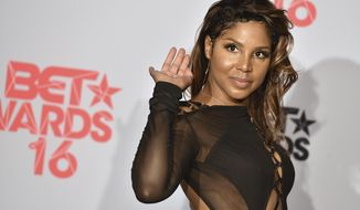 FILE - In this June 26, 2016, file photo, Toni Braxton poses in the press room at the BET Awards in Los Angeles. Braxton cancelled her Oct. 15, 2016, show in Cleveland after being hospitalized for complications in her battle with lupus. (Photo by Jordan Strauss/Invision/AP, File)