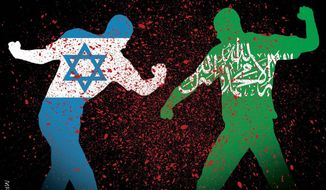 Illustration on the Israeli/Palestinian conflict by M. Ryder/Tribune Content Agency