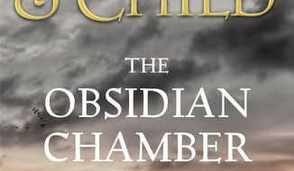 "This book cover image released by Grand Central Publishing shows ""The Obsidian Chamber,"" by Preston & Child. (Grand Central Publishing via AP)"