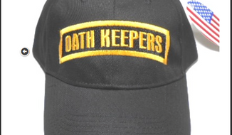 Oath Keepers ball cap, via the group's website.