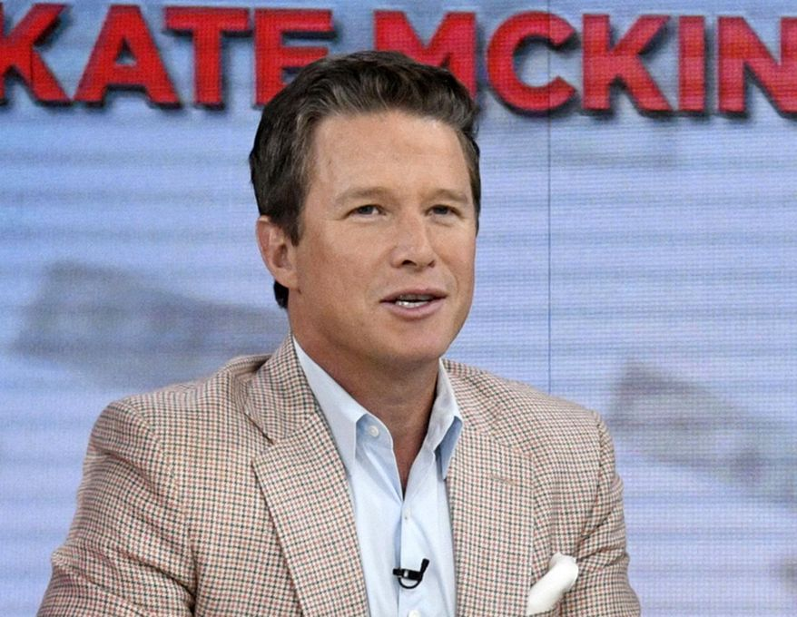 """FILE - In this Sept. 26, 2016 file photo released by NBC, co-host Billy Bush appears on the """"Today"""" show in New York.  The fallout over Bush's lewd conversation with Donald Trump has left NBC's """"Today"""" show unexpectedly looking for help in its third hour and Bush pondering how to resurrect his career. (Peter Kramer/NBC via AP, File)"""