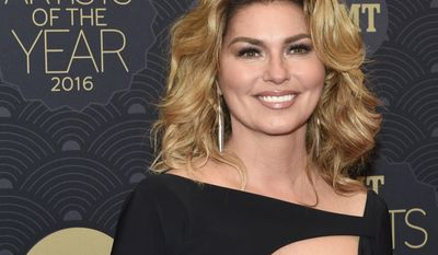 Shania Twain poses at the 2016 CMT Artists of the Year at Schermerhorn Symphony Center on Wednesday, Oct. 19, 2016, in Nashville, Tenn. (Photo by Sanford Myers/Invision/AP)