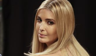 Ivanka Trump, daughter of Donald Trump looks over her shoulder before the start of the third presidential debate between Democratic presidential nominee Hillary Clinton Republican presidential nominee Donald Trump at UNLV in Las Vegas, Wednesday, Oct. 19, 2016. (AP Photo/John Locher)