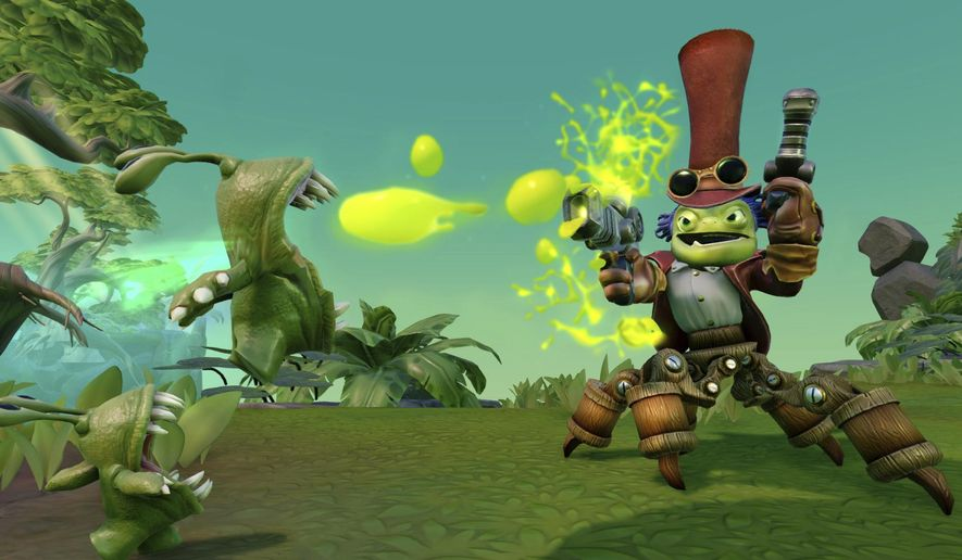 """This image released by Activision shows a scene from the video game, """"Skylanders Imaginators."""" (Activision via AP)"""