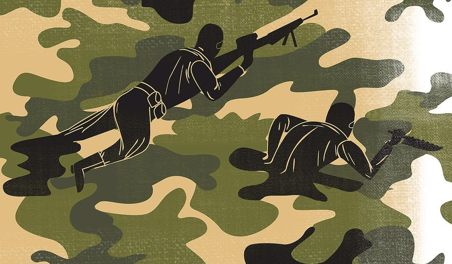 Illustration on Special Ops forces by Linas Garsys/The Washington Times