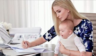 Ivanka Trump, shown here with her six-month-old son Theodore, says her father Donald Trump would never lie to the American people. (Ivanka Trump)